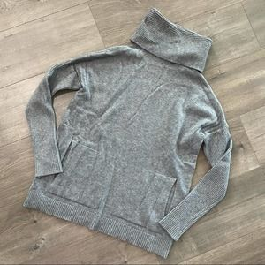 Cyrus Grey Cowl Hoodie Pullover Sweater